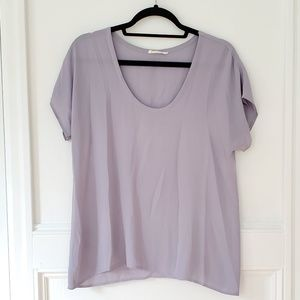 Lush Gray Lightweight Blouse, Small